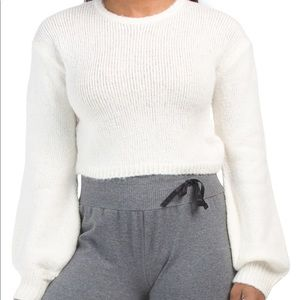 NWT- MORRISDAY The Label Balloon Sleeve Sweater